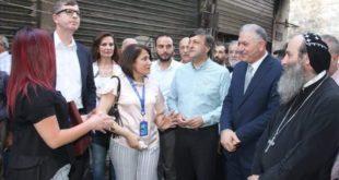 إفتتاح سوق المحمص و سوق النحاسين بحلب القديمة