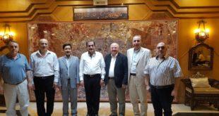 زيارة رئيس و أعضاء غرفة سياحة المنطقة الشمالية لمحافظ حلب السيد حسين دياب
